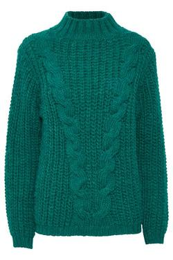 Isia Cable Pullover Botanical Green - Soaked in Luxury