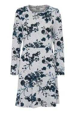Pieta Print Dress Teal Combi. - B.young