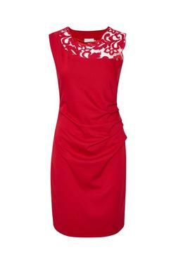 India Vivi Dress Haute Red. - Kaffe