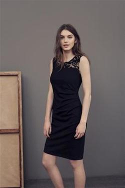 India Vivi Dress. Deep Black. - Kaffe