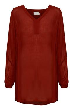 Amber v-neck tunic Sun dried tomato - Kaffe