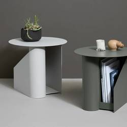 WOUD Sentrum side table warm grey Grå - WOUD