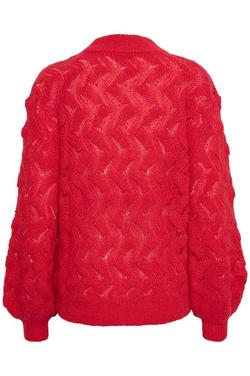 Frida Pullover LS Poinsetta Red. - Soaked in Luxury