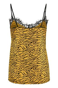 Clara Printed Singlet. Honey Tiger Print. - Soaked in Luxury
