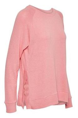 Sinead Pullover. Pink Icing Melange. - Soaked in Luxury