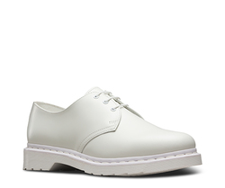 White mono leather Hvit - Dr. Martens