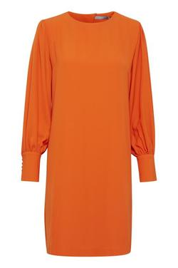 Fillippo Ballon Dress. Tulip Orange. - B.young