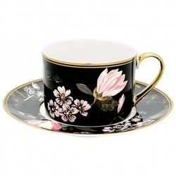 Cup & saucer x2 Amelie black - Green Gate
