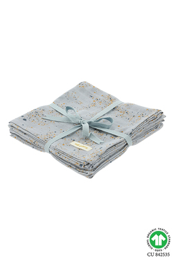 Muslin 3 pack Ocean Blue - Soft Gallery