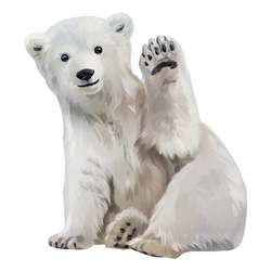 Oswald the Polar bear (small) Hvit - That´s mine