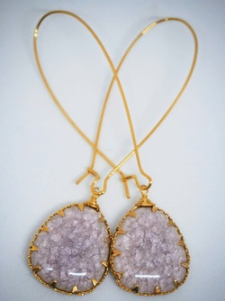 Gold Isle of Capri Earrings Dusty pink - Isle&Tribe