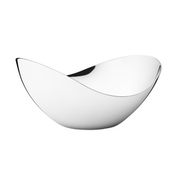 BLOOM HØY SKÅL, MEDIUM stål - Georg Jensen