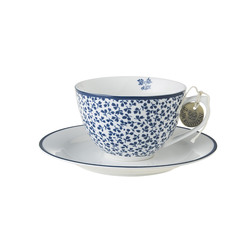 Laura Ashley cappucino-kopp x2  Floris - Laura Ashley tableware