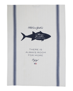 Printed Kitchen Towel  white/blue - Lexington