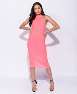 Parisian highneck midi-dress Rosa - Parisian