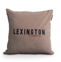 Logo velvet sham Beige - Lexington