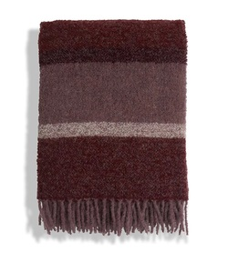 Striped wool boucle throw  som på bildet - Lexington