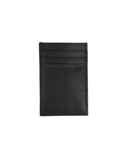Hobson leather cardholder Svart - Lexington