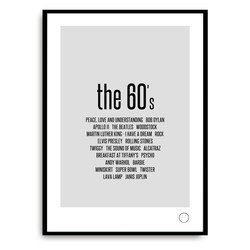 Poster - Remember the 60s 60 - Kreativitum