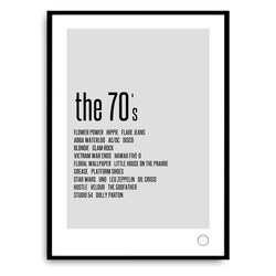 Poster - Remember the 70s 70 - Kreativitum